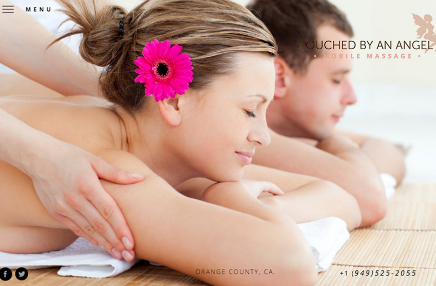 Tuoched By An Angel Mobile Massage Website Cover