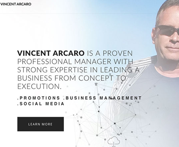 Vincent Arcaro Website Cover