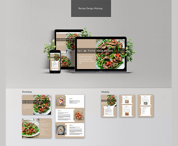 Recipe Layout Design
